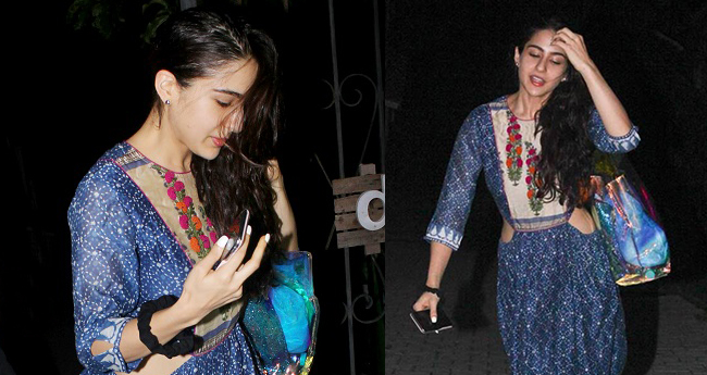 Sara Ali Khan Seen In Blue Maxi Dress And It Is Her Best Offbeat Fashion Pick