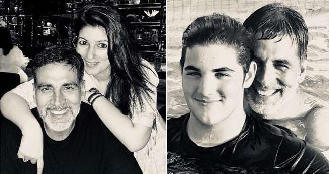 Akshay Kumar Shares A Picture With Twinkle, Kids Aarav And Nitara