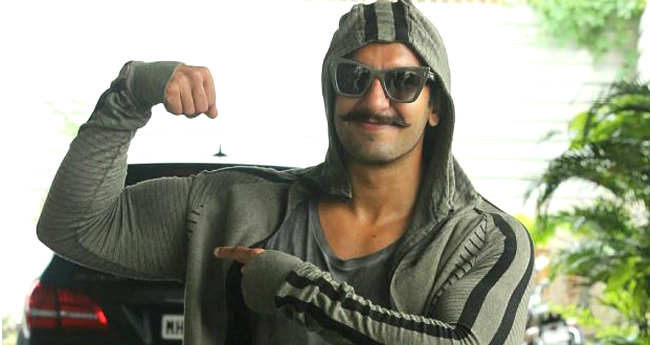 Ranveer Singh's Quirky Styles Continues, Posed Outside His Gym