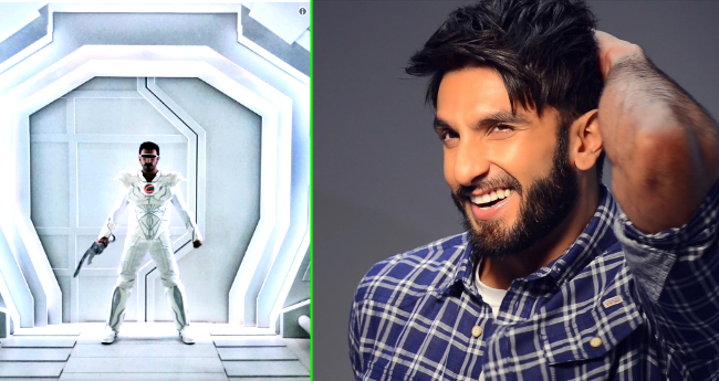 Ranveer Singh Wore Another Weird Outfit, Paired With Karishma Tanna For His Next Commercial