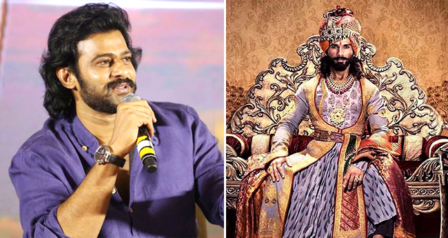 Not Shahid, But Prabhas Was Offered The Role Of Maharawal Ratan Singh In Padmaavat