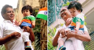 Taimur Ali Khan Celebrated Independence Day By Wearing A Tricolor T-shirt, Also Waved The Flag
