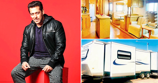 Inside Pictures Of Salman Khan's Luxurious Vanity Van In Malta