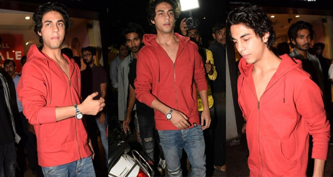 Shah Rukh Khan's Elder Son Aryan Khan Looks Dapper In Red Hoodie
