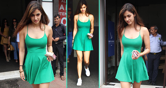 Disha Patani Keeps Her Style On Point For A Lunch Outing, Pairs Skater Dress With White Shoes