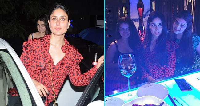 Kareena Kapoor Khan Looks Elegant In A Multi Coloured Outfit For Her Girls Night Out