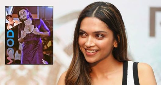 Ranveer Singh shares a funny pic of himself which Deepika might not like