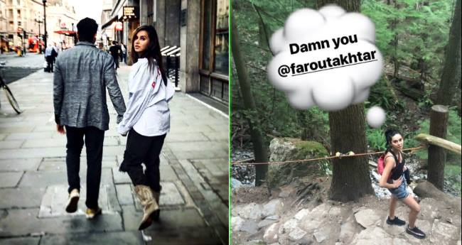 Farhan Akhtar and Shibani Dandekar are hiking in Vancouver, shares sweet pictures