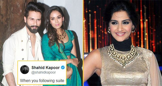 After Welcoming A Baby Boy, Shahid Asks Sonam When She Is Planning To Start A Family