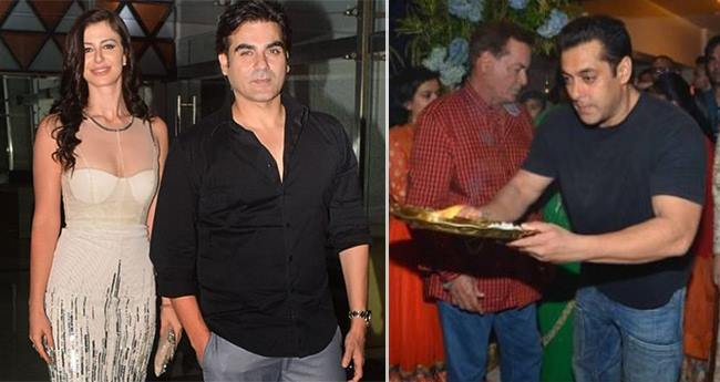 Arbaaz Khan invited Ladylove Georgia Andriani and her Dad for Ganesh Chaturthi festival in Mumbai
