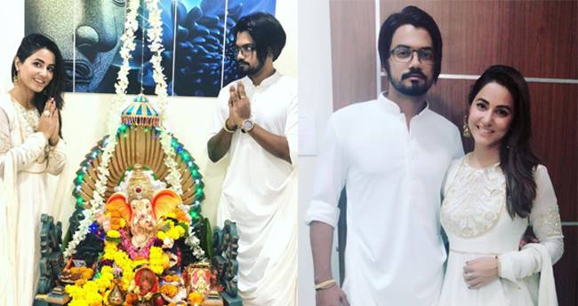 Hina Khan Celebrated Ganesh Chaturthi With Boyfriend Rocky Jaiswal