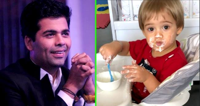 Karan Johar Tries To Teach Table Manners To His Son Yash, Shares Cute Picture