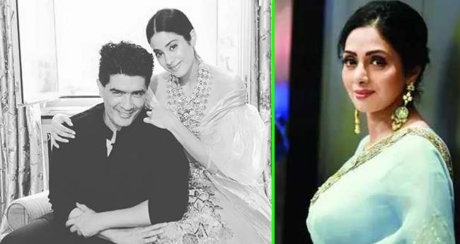 Janhvi Kapoor Poses With Manish Malhotra For A Photoshoot, People Think It Was Sridevi