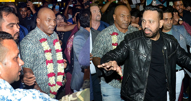 Salman Khan's bodyguard Shera in service for Mike Tyson as he visits India