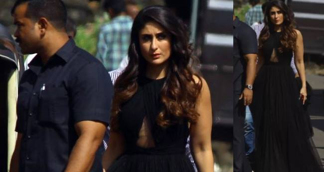 Kareena Kapoor Khan Twirls Right Into Our Hearts Wearing A black Gown By Gauri and Nainika