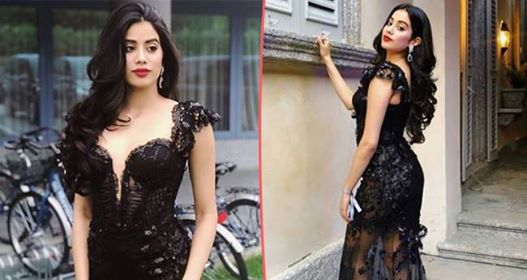 Jahnvi Kapoor looks like a real beauty in the sheer black gown