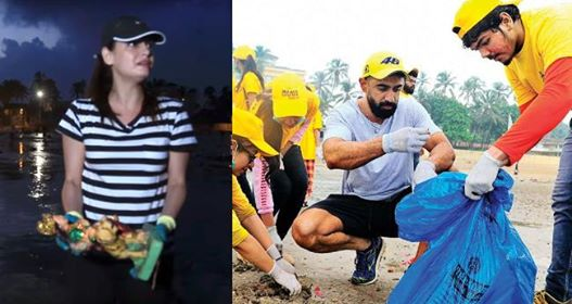 Swachh Bharat Mission observed many celebs on the beach after Ganesh Visarjan