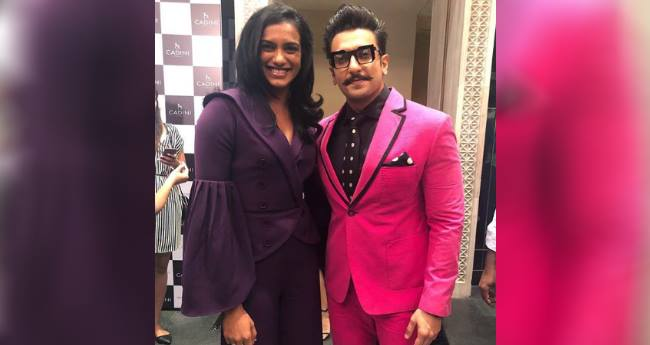 Ace Actor Ranveer Singh And Badminton Player PV Sindhu Shares A Fan Moment