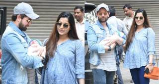 Neil Nitin And Rukmini Bring Their New Born Daughter Home, Pose For Shutterbugs