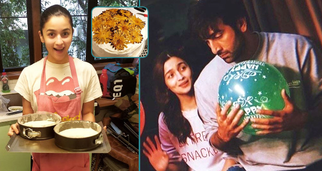 Going An Extra Mile For Love Ranbir Kapoor, Alia Bhatt Baked A Delicious Cake On His Birthday
