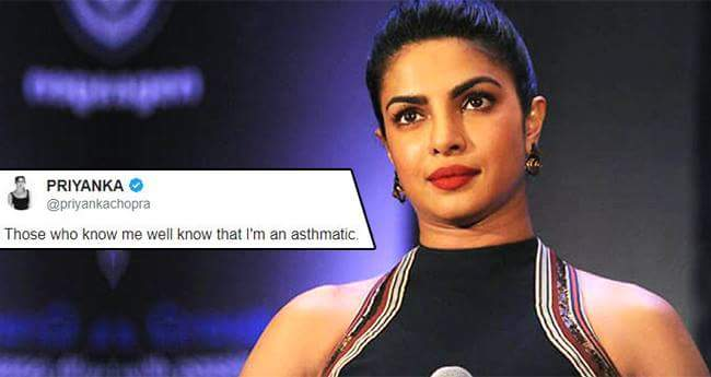 Priyanka Chopra Shares That She Is Asthamatic And It Has Never Stopped Her From Achieving Her Goals