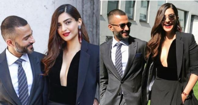 Sonam-Anand Look Ultra-Stylish As They Attend The Armani Fashion Show In Milan