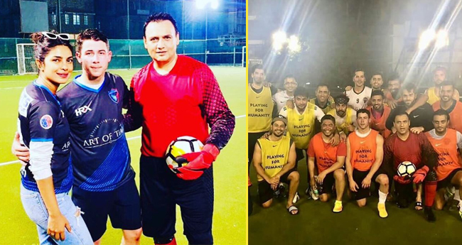 Nick Jonas enjoys Soccer with Bollywood biggies in Mumbai, Priyanka cheers for him