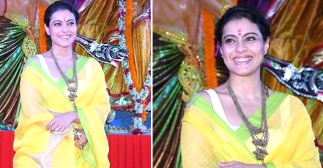 Kajol Looks Every Bit A Bengali Beauty At Durga Puja