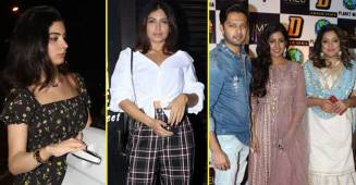 Tanushree Dutta Attends Dandiya Event, Jacqueline, Ravina Tandon, Khushi Kapoor Too Spotted In The City
