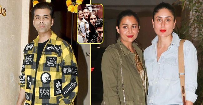 Karan Johar Bonds With Kareena And Amrita Arora Over A Dinner At Manish Malhotra's House