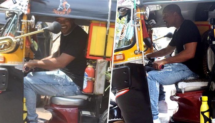Hollywood Star Will Smith Enjoys Riding An Auto-Rickshaw On The Streets Of Mumbai