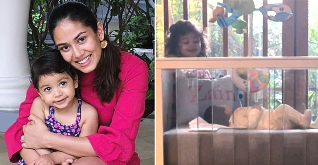 Mira and Shahid's daughter Misha adorably gazing at brother Zain will make your day