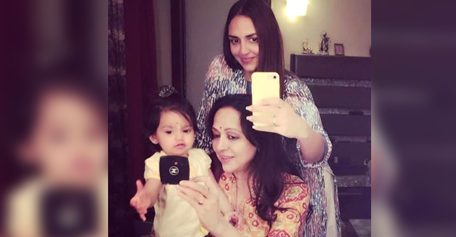 Esha Deol Captured Three Generation In One Picture And We Love It