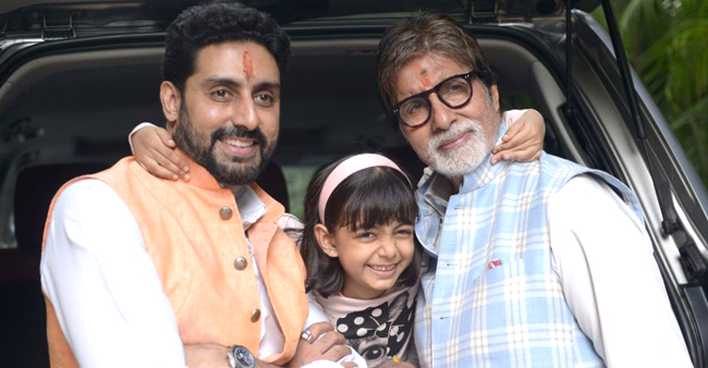 Amitabh Bachchan received the greatest gift by son Abhishek and granddaughter Aaradhya