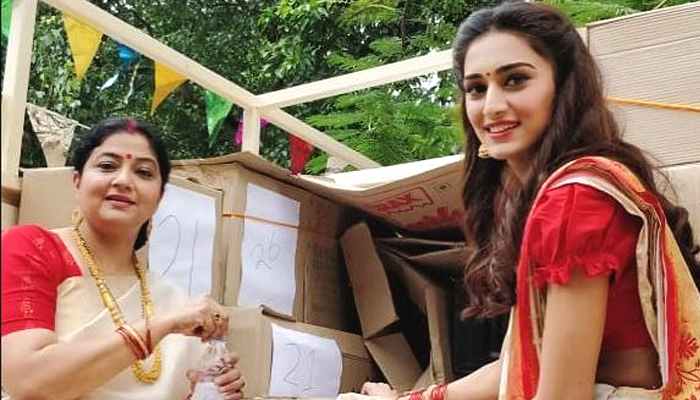Erica Fernandes aka Prerna decked up for Durga Puja in Kasautii Zindagi Kay 2