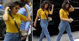 Priyanka Chopra's new look on blue jeans and yellow sweater will cost you just 1.75 lacs
