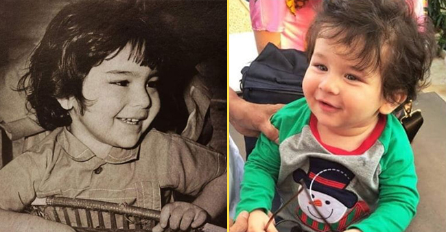 Saif Ali Khan's childhood picture resembles to son Taimur and its pretty cute