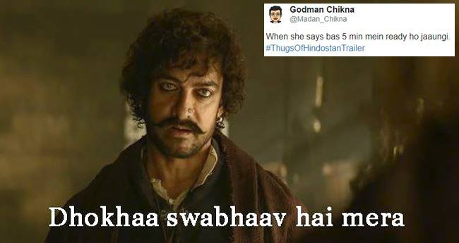Memes and Comments by tweeps on Thugs Of Hindostan are LOL-worthy