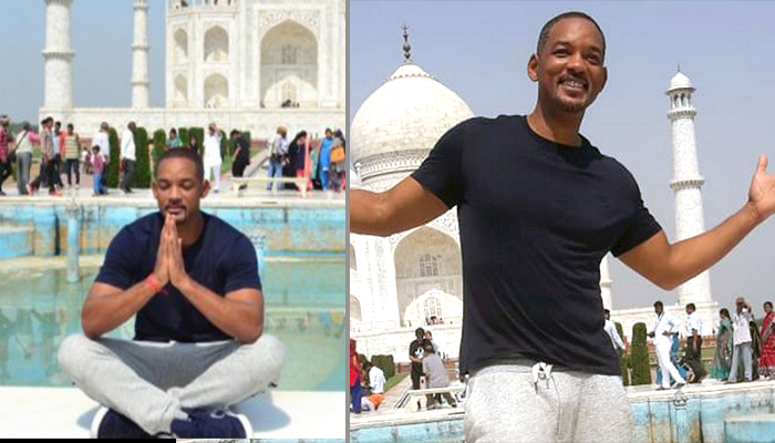 Will Smith visits Taj Mahal, seems he is awestruck by the monument's beauty