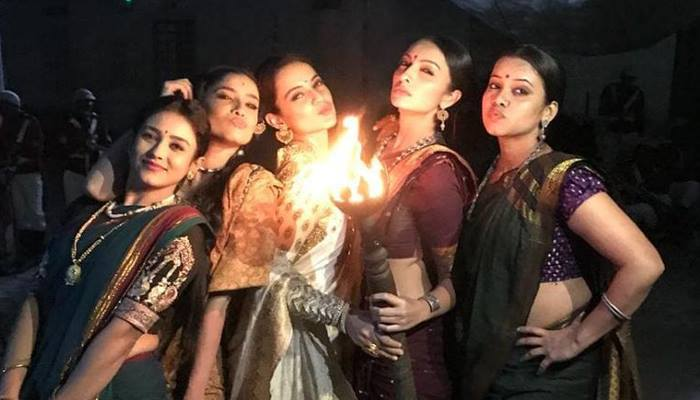 The girl gang of Manikarnika celebrates the teaser release success, parties hard