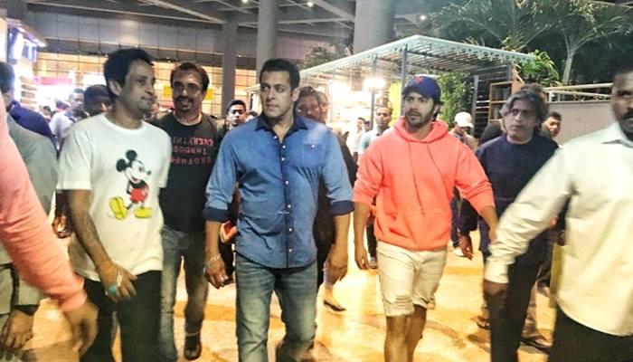 Varun Is Back In Mumbai Along With Salman Khan After Shooting For Bharat