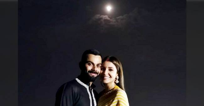 Virat and Anushka celebrated first Karva Chauth together and the pictures are worth drooling