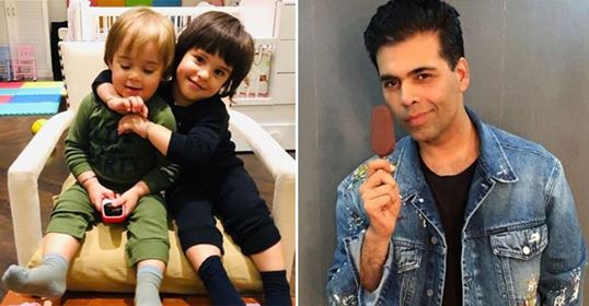 KJo shares an adorable picture of his kids Roohi and Yash and we can't stop awwing