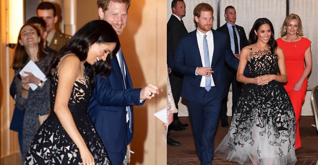 Meghan Markle, the royal princess looked gorgeous in this black and white attire