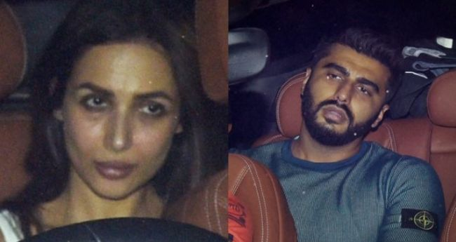 Presumed Love Birds Malaika and Arjun spotted together after exiting a party