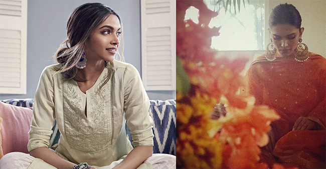 Wedding festivities start at Deepika's Banglore home with Nandi Puja, the actress looks radiant