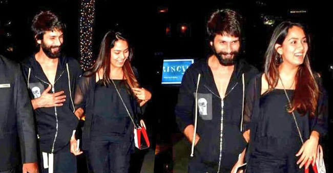 Shahid Kapoor and Mira Rajput Twin In Black As They go On A Romantic Dinner Date