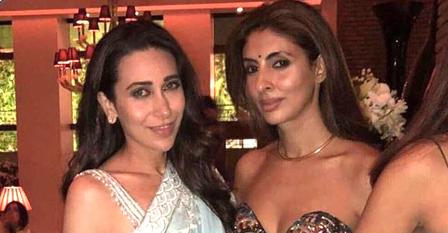 Karisma Kapoor bonds with Shweta Nanda Bachchan at Shah Rukh's grand Diwali party