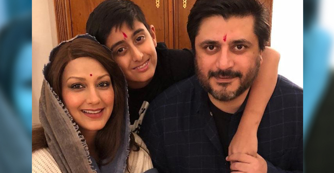 Sonali Bendre's unconventional Diwali celebration with husband Goldie Bahl and son Ranveer