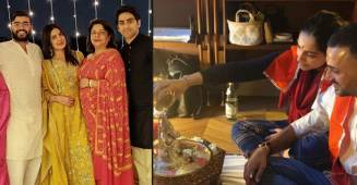 Sonam And Priyanka Celebrate The Festival Of Lights With Their Respective Families